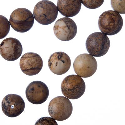 Pietra Paesina - Filo di sfere lisce da 10mm