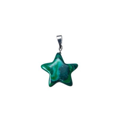 Ciondolo a stella in Malachite sintetica