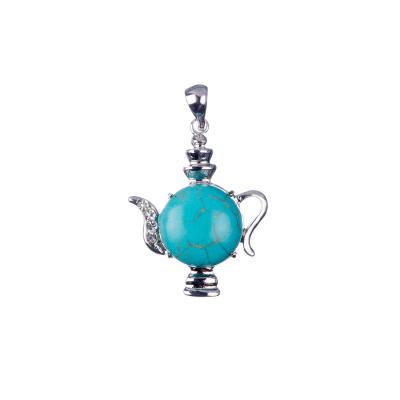 Ciondolo Lampada Aladino in pasta di Turchese e Strass