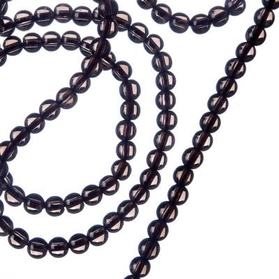 Quarzo Fumé - Filo di sfere lisce da 4mm