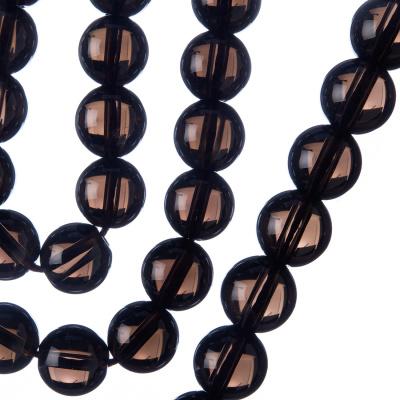 Quarzo Fumé - Filo di sfere lisce da 10mm