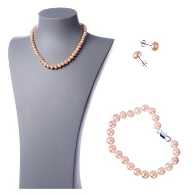 Parure di Perle rosate