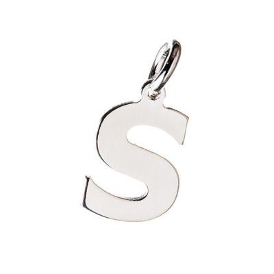 Pendente Lettera S in Argento 925 - 15 mm