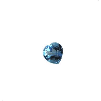 Gemma di Topazio Azzurro - Taglio a gradini - Cuore 0.9x0.9x0.50