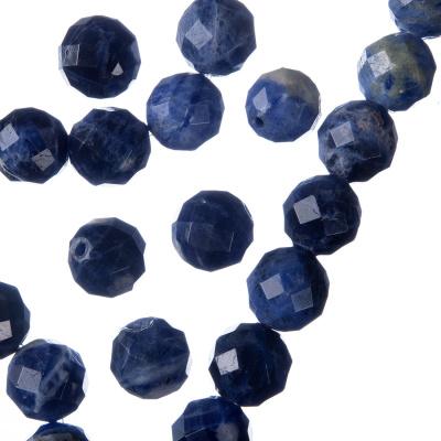 Sodalite - Filo di sfere sfaccettate da 10mm