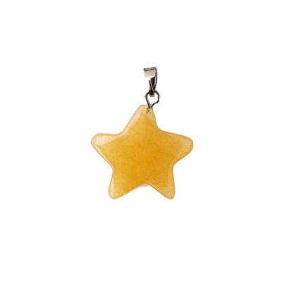 Ciondolo a stella in Giada Gialla