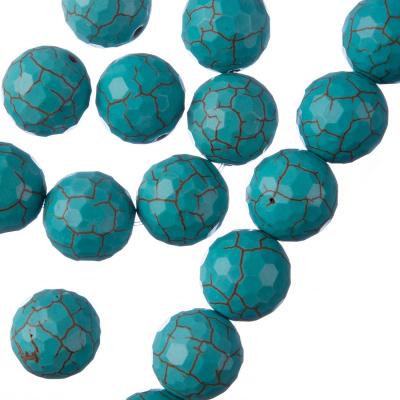 Turchese - Filo di sfere sfaccettate da 12mm