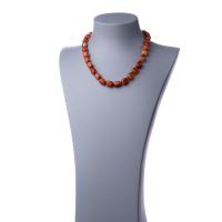 Collana corta in Corniola e Argento 925 - 48 cm