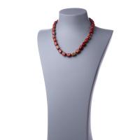 Collana corta in Diaspro Rosso e Argento 925 - 48 cm