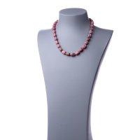 Collana corta in Rodonite e Argento 925 - 48 cm