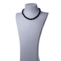 Collana corta in Ossidiana Nera e Argento 925