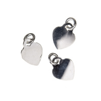 Charm Cuore in Argento 925 - 1.6 x 1 cm - 1 pz.