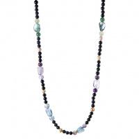 Collana con elementi di Pietre varie, Perle e Argento 925