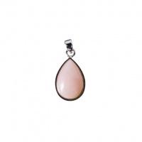 Ciondolo Goccia di Opale Andino Rosa e Argento 925