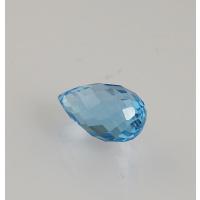 Gemma di Topazio Azzurro - Taglio Briolette - Goccia 0.95x1.65x0.95