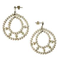 Orecchini Tondi con Perle e Argento 925