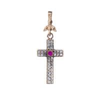 Ciondolo croce in Argento 925 con Zirconi