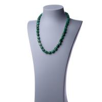 Collana Lunga di Avventurina Verde e Argento