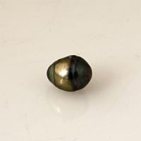Perle colorate Verde petrolio 10 - 11 mm