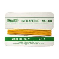 Filo Infilaperle in Nylon con ago - Giallo - Diametro da 0.4 a 0.9 mm