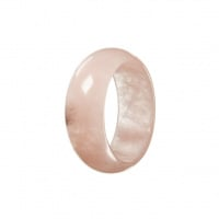 Anello All Stone in Quarzo Rosa - Medium