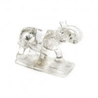 Elefante in Cristallo di Rocca con base