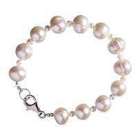 Bracciale in Perle Bianche tonde e Microperle