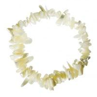 Bracciale chips elastico di Madreperla