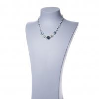Collana corta in Agata Muschiata, Prehnite e Argento 925