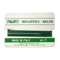 Filo Infilaperle in Nylon con ago - Giada - Diametro da 0.4 a 0.9 mm