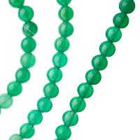Agata Verde - Filo di sfere lisce da 6mm
