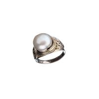 Anello a cabochon di Perla e Argento 925