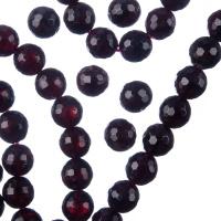 Granato - Filo di sfere sfaccettate da 8mm