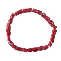 Bracciale unisex elastico di Corallo rosso