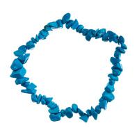 Bracciale chips in Howlite Azzurra, elastico