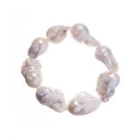 Bracciale Elastico di Perle Barocche