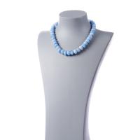 Collana di Agata Azzurra e Ag 925