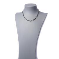 Collana corta a elementi sfaccettati di Labradorite e Argento 925