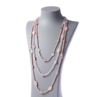 Collana di Quarzo rosa, Madreperla e Perle