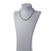 Collana Corta Unisex in Smeraldi ed Oro