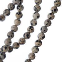 Diaspro Dalmata - Filo di sfere lisce da 6mm