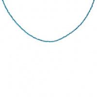 Collana di Apatite sfere sfaccettate 2 mm