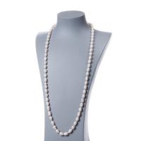 Collana di Perle Bianche d'Acqua dolce ovali