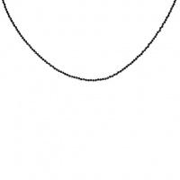 Collana di Spinello Nero sfere sfaccettate 2 mm