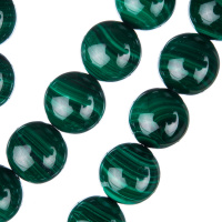 Malachite - Filo di sfere lisce da 14mm