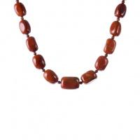 Collana di Elementi irregolari in Diaspro Rosso e Ottone