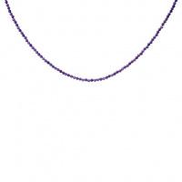 Collana di Ametista sfere sfaccettate 2 mm
