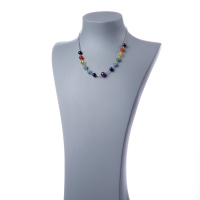 "Collana a catena e Sfere da 8mm ""7 Chakra"""