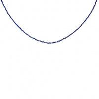 Collana di Lapislazzuli sfere sfaccettate 2 mm