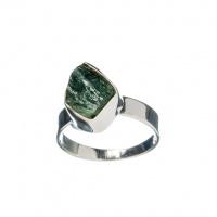 Anello con Tormalina Verde (Verdellite) e Argento 925